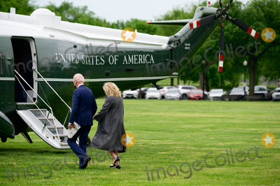 Jill Biden Photo - US President Joe Biden and First Lady Jill Biden board Marine One on the Ellipse of the White House in Washington DC US on Monday May 3 2021 Bidens 4 trillion vision of remaking the federal governments role in the US economy is now in the hands of Congress where both parties see a higher chance of at least some compromise than for the administrations pandemic-relief bill Credit Erin Scott  Pool via CNPAdMedia