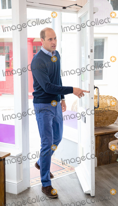Photo - Photo Must Be Credited Alpha Press 073074 19062020Prince William Duke of Cambridge during a visit to Smiths the Bakers in the High Street in Kings Lynn Norfolk No UK Rights Until 28 Days from Picture Shot Date AdMedia