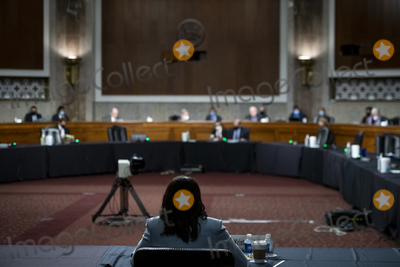 Photo - Kristen Clarke appears before a Senate Committee on the Judiciary hearing for her nomination to be Assistant Attorney General Civil Rights Division at the Department of Justice in the Dirksen Senate Office Building in Washington DC Wednesday April 14 2021 Credit Rod Lamkey  CNPAdMedia