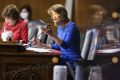 alaska Photo - WASHINGTON DC - APRIL 20 United States Senator Lisa Murkowski (Republican of Alaska) speaks duringa Senate Appropriations Committee hearingto examine the American Jobs Plan focusing on infrastructure climate change and investing in our nations future on Tuesday April 20 2021 on Capitol Hill in Washington DCCredit Oliver Contreras  Pool via CNP