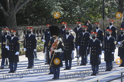 Photo - ARLINGTON VA - JANUARY 20 Honor Guard participates in a wreath-laying ceremony at the Tomb of the Unknown Soldier January 20 2021 in Arlington National Cemetery in Arlington Virginia Credit Katherine Frey - Pool via CNPAdMedia