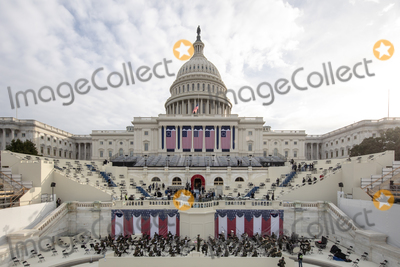 Photo - Preparations are made prior to a dress rehearsal ahead of the 59th Inaugural Ceremonies on the West Front of the US Capitol in Washington DC US Monday Jan 18 2021 Biden ascends to the presidency on Wednesday with an inaugural speech outlining how hell tackle the health and economic crises he inherits while attempting to knit the country back together just two weeks after the outgoing presidents loyalists waged a deadly riot to block the change of power Credit Jeenah Moon  Pool via CNPAdMedia