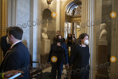 Photos From United States Vice President Kamala Harris at the U.S. Capitol for a vote.