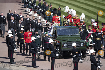 Peter Phillips Photo - Photo Must Be Credited Alpha Press 073074 17042021Princess Anne Princess Royal Prince Charles Prince of Wales Prince Andrew Duke of York Prince Edward Earl of Wessex Prince William Duke of Cambridge Peter Phillips Prince Harry Duke of Sussex Lord Viscount Linley Earl of Snowdon David Armstrong-Jones Viscount Lord David Linley and Vice-Admiral Sir Timothy Laurence follow Prince Philip Duke of Edinburghs coffin on a modified Jaguar Land Rover during the funeral of Prince Philip Duke of Edinburgh at St Georges Chapel in Windsor Castle in Windsor Berkshire No UK Rights Until 28 Days from Picture Shot Date AdMedia