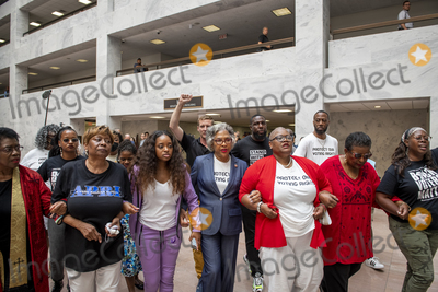 Photo - United States Representative Joyce Beatty (Democrat of Ohio) is during a protest for voting rights