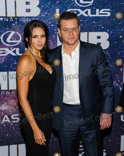 Luciana Barroso Photo - 11 June 2019 - New York New York - Luciana Barroso Matt Damon Men In Black International New York Premiere held at AMC Lincoln Square Photo Credit Mario SantoroAdMedia