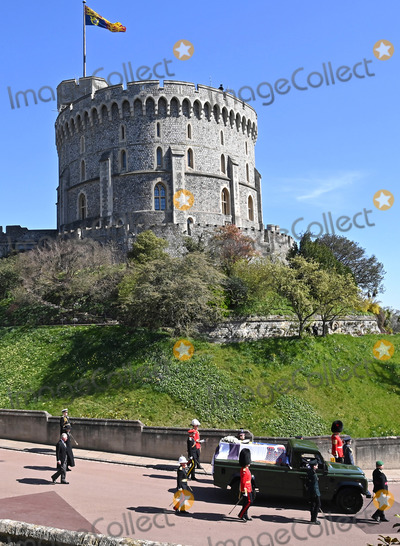 Princess Royal Photo - Photo Must Be Credited Alpha Press 073074 17042021Princess Anne Princess Royal Prince Charles Prince of Wales follow Prince Philip Duke of Edinburghs coffin on a modified Jaguar Land Rover during the Ceremonial Procession during the funeral of Prince Philip Duke of Edinburgh at St Georges Chapel in Windsor Castle in Windsor Berkshire No UK Rights Until 28 Days from Picture Shot Date AdMedia
