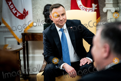 Photo - United States President Donald J Trump and Polish PresidentAndrzej Duda during a bilateral meeting in the Oval Office of the White House in Washington DC on June 24 2020Credit Erin Schaff  Pool via CNPAdMedia
