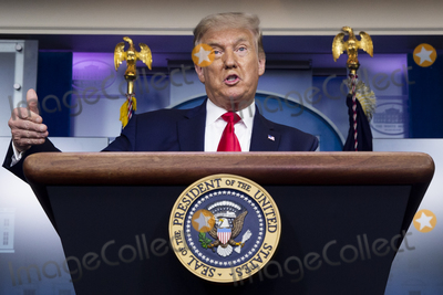Photo - President Donald Trump Holds a News Briefing