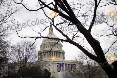 Photo - The US Capitol is decorated as preparations are made for the upcoming inauguration of President Joe Biden at the US Capitol in Washington DC Friday January 15 2021 Credit Rod Lamkey  CNPAdMedia