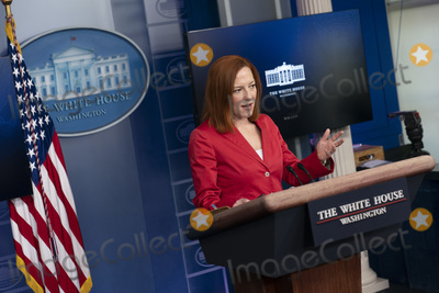 Photos From White House Press Secretary Jen Psaki holds a news briefing