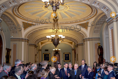 Photos From United States Senate Majority Leader Mitch McConnell (Republican of Kentucky) Holds Press Conference On Captiol Hill