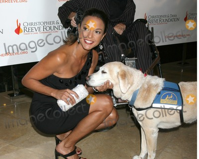 DANA REEVES Photo - Eva LaRue and guide dog arriving at the 4th Annual Los Angeles Gala for the Christopher  Dana Reeve Foundation at the Beverly Hilton Hotel in Beverly Hills CADecember 2 2008