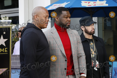 Dr Dre Photo - LOS ANGELES - JAN 30  Dr Dre Curtis Jackson 50 Cent Eminem Marshall Bruce Mathers III at the 50 Cent Star Ceremony on the Hollywood Walk of Fame on January 30 2019 in Los Angeles CA