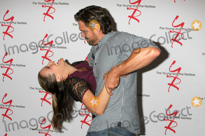 Photo - LOS ANGELES - AUG 19  Melissa Claire Egan Joshua Morrow at the Young and Restless Fan Event 2017 at the Marriott Burbank Convention Center on August 19 2017 in Burbank CA