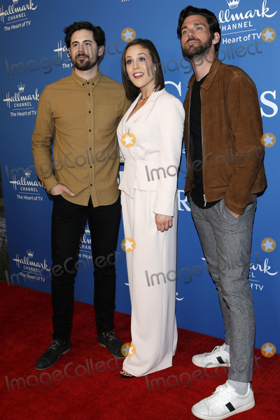 Photo - LOS ANGELES - FEB 11  Chris McNally Erin Krakow Kevin McGarry at the When Calls the Heart TV show season 7 premiere at the Beverly Wilshire Hotel on February 11 2020 in Beverly Hills CA