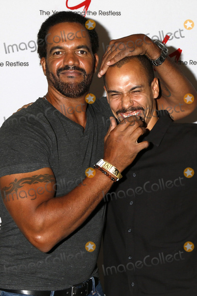 Photo - LOS ANGELES - AUG 19  Kristoff St John Bryton James at the Young and Restless Fan Event 2017 at the Marriott Burbank Convention Center on August 19 2017 in Burbank CA