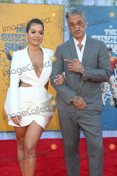 Photo - LOS ANGELES - AUG 2  Rita Ora Taika Waititi at the The Suicide Squad Premiere at the Village Theater on August 2 2021 in Westwood CA