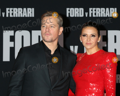 Luciana Barroso Photo - LOS ANGELES - NOV 4  Matt Damon Luciana Barroso at the Ford v Ferrari Premiere at TCL Chinese Theater IMAX on November 4 2019 in Los Angeles CA