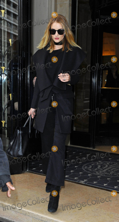Photos From Rosie Huntington-Whiteley is seen in Paris France