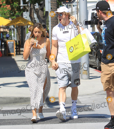 Photos From Chloe Bennet and Logan Paul are seen in Beverly Hills