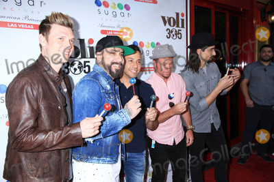 Photo - Backstreet Boys at the grand opening of Sugar Factory