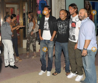 Alessandro Nesta Photo - EXCLUSIVE Italian footballers Paolo Maldini and Alessandro Nesta happily pose with fans and for photographers while out for the evening on Lincoln Road with their wives Adriana Maldini and Gabriela Pagnozzi Miami Beach FL  070910 Fees must be agreed prior to publication