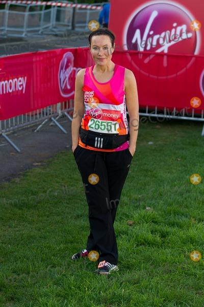 Amanda Mealing Photo - Amanda Mealing poses at the start of the 2014 Virgin Active London Marathon Blackheath Common London 13042014 Picture by Dave Norton  Featureflash