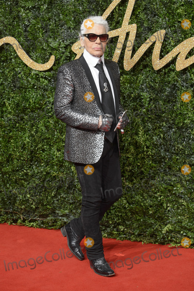 Photo - Karl Lagerfeld at the British Fashion Awards 2015 at the Coliseum Theatre LondonNovember 23 2015  London UKPicture Dave Norton  Featureflash