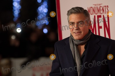 Photo - George Clooney arriving for The Monuments Of Men Premiere at Odeon Leicester Square London 11022014 Picture by Dave Norton  Featureflash