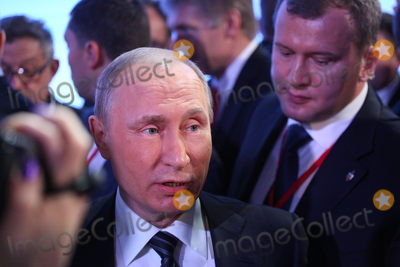 President Vladimir Putin Photo - MOSCOW RUSSIA - December 17 2015 Russian president Vladimir Putin holds his annual press conference at the Kremlin with Russian and international journalistsPicture Kristina Afanasyeva  Featureflash