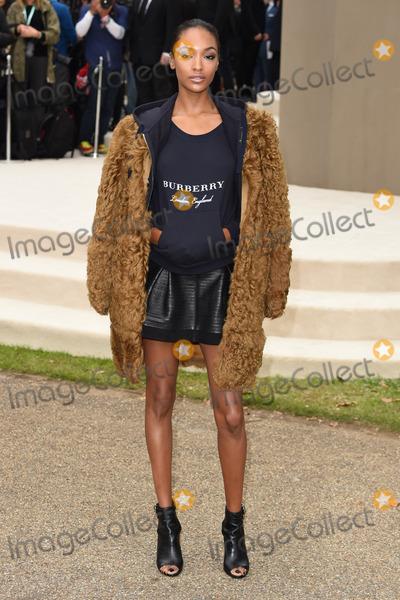 Jourdann Dunn Photo - Jourdann Dunn arriving for the Burberry Prorsum show at London Fashion Week Spring Summer 2016 September 21 2015  London UKPicture Steve Vas  Featureflash
