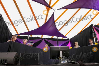 Alan Davies Photo - Southwold Suffolk Sandi Toksvig presents a special live edition of the BBC panel show QI with Alan Davies Lou Conran Rachel Parris and Marcus Brigstocke in the Comedy Arena  on the first day of the  2018 Latitude Festival  at Henham Park near Southwold Suffolk 13th July 2018Ref LMK73-J2315-160718Keith MayhewLandmark MediaWWWLMKMEDIACOM