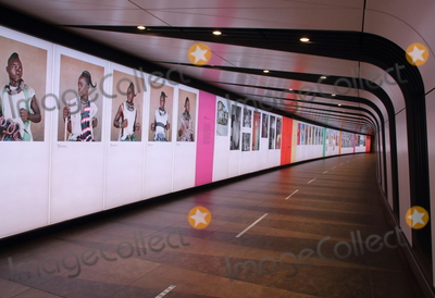Photo - London UK Face to Face is an exhibition of social documentary photography curated by Ekow Eshun in partnership with the Fund for Global Human Rights It is currently on display in the Kings Cross tunnel which runs under and around Coal Drops yard into the Rail Stations of St Pancras and Kings Cross in London November 25th 2020Ref LMK73-J6998-251120Keith MayhewLandmark MediaWWWLMKMEDIACOM