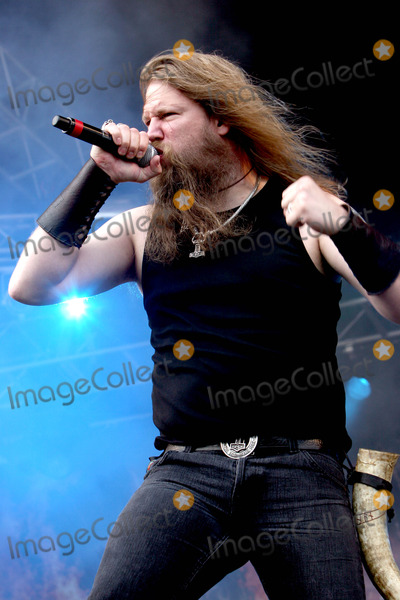 Amon Amarth Photo - Catton Hall Derbyshire UK Amon Amarth perform live at Bloodstock Open Air 2009 at Catton Hall Moonspell are Johan Hegg Johan Sderberg Olavi MikkonenTed Lundstrom Fredrik Andersson 16th August 2009Taya UddinLandmark Media