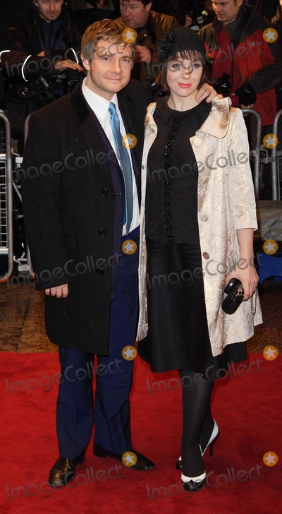Amanda Abbington Photo - London UK  Martin Freeman and Amanda Abbington  at the premiere of new  film  Sleuth at  the Odeon West End Leicester Square London  This is the second film version of his original play  18th November 2007 Keith MayhewLandmark Media