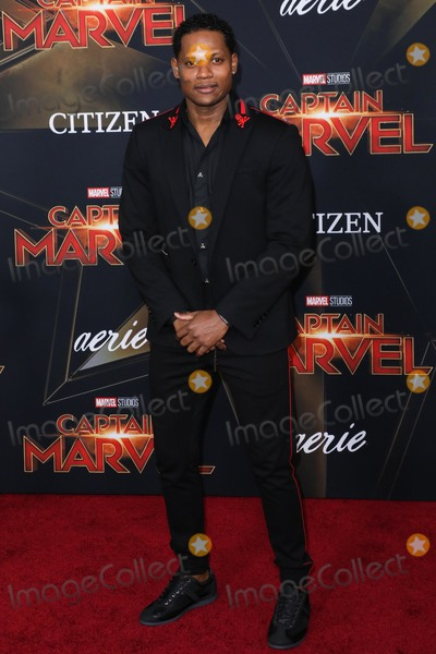 Algenis Perez Photo - HOLLYWOOD LOS ANGELES CA USA - MARCH 04 Actor Algenis Perez Soto arrives at the Los Angeles Premiere Of Marvel Studios Captain Marvel held at the El Capitan Theatre on March 4 2019 in Hollywood Los Angeles California United States (Photo by David AcostaImage Press Agency)