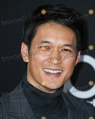 Photo - BEVERLY HILLS LOS ANGELES CA USA - NOVEMBER 04 Actor Harry Shum Jr wearing an Eidos by Santo Spurr suit Jimmy Choo shoes and a Montblanc watch arrives at the 22nd Annual Hollywood Film Awards held at The Beverly Hilton Hotel on November 4 2018 in Beverly Hills Los Angeles California United States (Photo by Xavier CollinImage Press Agency)