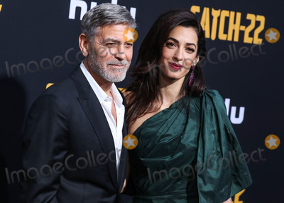 Amal Alamuddin Photo - HOLLYWOOD LOS ANGELES CALIFORNIA USA - MAY 07 Actor George Clooney and wifebarrister Amal Alamuddin Clooney (wearing an Oscar de la Renta dress) arrive at the Los Angeles Premiere Of Hulus Catch-22 held at the TCL Chinese Theatre IMAX on May 7 2019 in Hollywood Los Angeles California United States (Photo by Xavier CollinImage Press Agency)