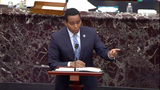 The Used Photo - In this image from United States Senate television US Representative Joe Neguse (Democrat of Colorado) Manager on the Part of the US House makes his closing argument during Day 5 of the second impeachment trial of the former president in the US Senate in the US Capitol in Washington DC on Saturday February 13 2021Mandatory Credit US Senate TV via CNPAdMedia