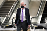 Jerry Moran Photo - Sen Jerry Moran (R-Kan) leaves the Capitol as Senators break for dinner during the second day of the impeachment trial of former President Donald Trump on Wednesday February 10 2021Credit Greg Nash - Pool via CNPAdMedia