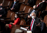 Alaska  Photo - United States Representative Don Young (Republican of Alaska) speaks on the House floor in the Capitol before swearing in Speaker of the US House of Representatives Nancy Pelosi (Democrat of California)on Sunday January 3 2021 Credit Bill Clark  Pool via CNPAdMedia