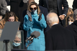 Nancy Pelosi Photo - Speaker of the United States House of Representatives Nancy Pelosi (Democrat of California) applauds as United States President Joe Biden concludes his speech after taking the Oath of Office as the 46th President of the US at the US Capitol in Washington DC on Wednesday January 20 2021 Credit Chris Kleponis  CNPAdMedia