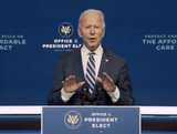 Queen Photo - In this image from the Biden Presidential Transition video feed United States President-elect Joe Biden makes a statement on the Affordable Care Act at the Queen Theatre in Wilmington Delaware on Tuesday November 10 2020Credit Biden Presidential Transition via CNPAdMedia