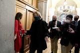 alaska Photo - Senator Lisa Murkowski a Republican from Alaska wears a protective mask while arriving to the US Capitol in Washington DC US on Saturday Feb 13 2021 The Senate voted to consider a request for witnesses at Donald Trumps impeachment trial injecting a chaotic new element that could end up prolonging proceedings that appeared to be on track to wrap up todayCredit Stefani Reynolds - Pool via CNPAdMedia