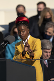 Amanda Gorman Photo - Amanda Gorman recites poetry after United States President Joe Biden took the Oath of Office as the 46th President of the US at the US Capitol in Washington DC on Wednesday January 20 2021 Credit Chris Kleponis  CNPAdMedia