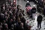 Alex Wong Photo - The flag-draped casket of United States Representative Elijah Cummings (Democrat of Maryland) is escorted by a honor guard during a memorial service at the Statuary Hall of the US Capitol October 24 2019 in Washington DC Rep Cummings passed away on October 17 2019 at the age of 68 from complications concerning longstanding health challengesCredit Alex Wong  Pool via CNPAdMedia