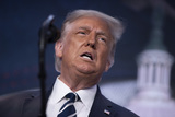 The Ritz Photo - United States President Donald J Trump speaks at the 2020 Council for National Policy Meeting at the Ritz Carlton in Arlington VA on Thursday August 20 2020   Credit Tasos Katopodis  Pool via CNPAdMedia