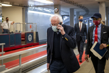 Bernie Sanders Photo - United States Senator Bernie Sanders (Independent of Vermont) makes his way through the Senate subway for a vote at the US Capitol in Washington DC Tuesday March 16 2021 Credit Rod Lamkey  CNPAdMedia