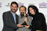 Asghar Farhadi Photo - 25 February 2012 - Santa Monica California - Peyman Moadi Asghar Farhadi Leyla Hatami 2012 Film Independent Spirit Awards - Press Room held at Santa Monica Beach Photo Credit Byron PurvisAdMedia